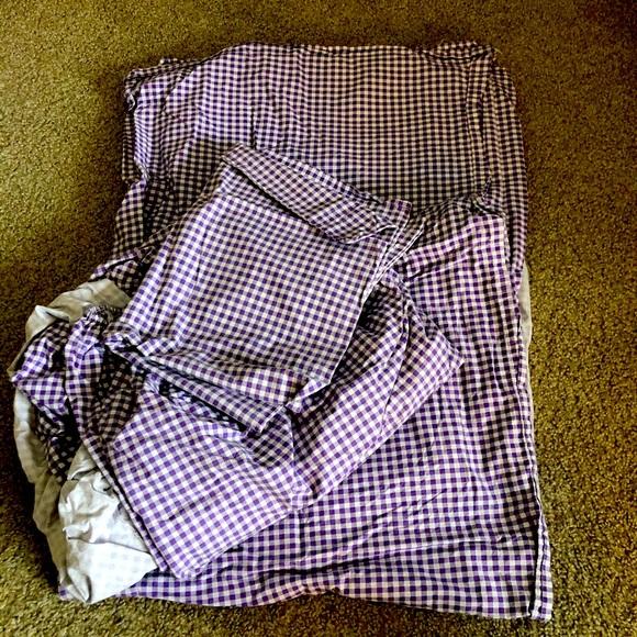 Purple Gingham Sheet Set